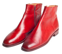 Rote Chelsea-Boots